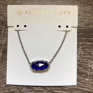 NWOT Kendra Scott Elisa Silver In Cobalt Cat Eyes